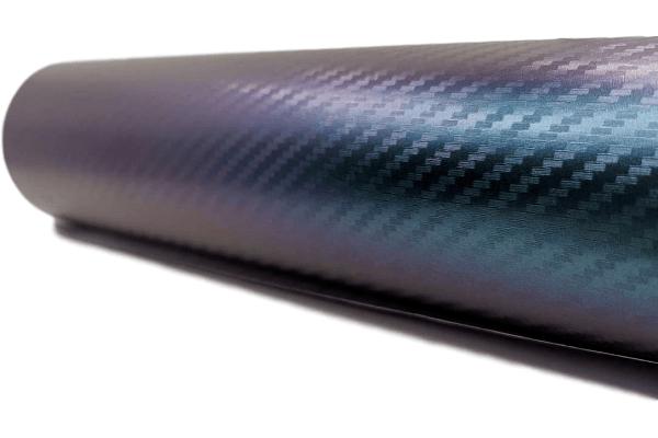 3D Carbon folija kameleon, zeleno-ljubičasta, Premium, 50x153cm