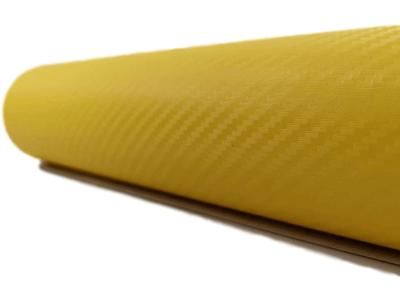 3D Carbon folija-žuta 30x153cm