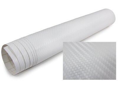 3D Karbonska folija - bela 30x153cm