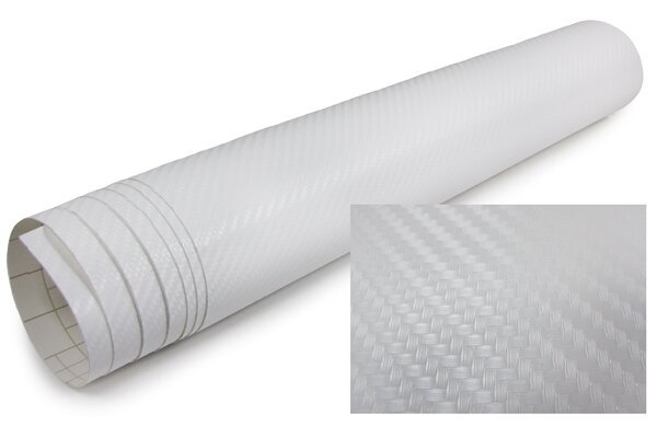 3D Karbonska folija - bijela 30x153cm