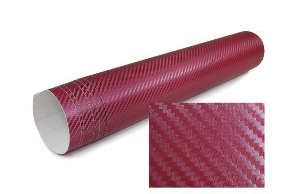 3D Karbonska folija - rdeča 30x153cm