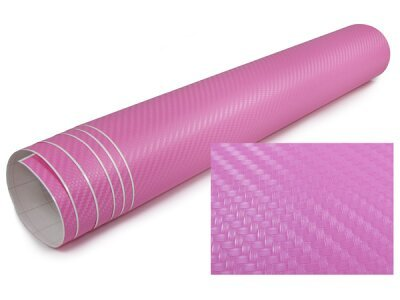 3D Karbonska folija - roza 30x153cm