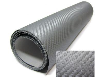 3D Karbonska folija - srebrna 30x153cm