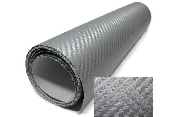 3D Karbonska folija - srebrna 50x153cm