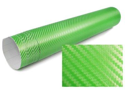 3D Karbonska folija - svetlo zelena 30x153cm