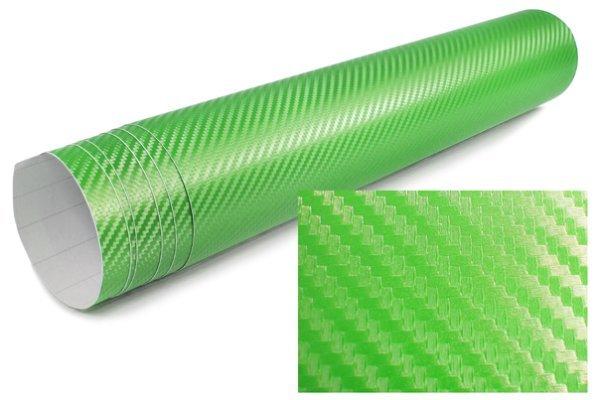 3D Karbonska folija - svijetlo zelena 30x153cm