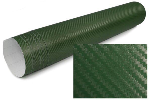 3D Karbonska folija - zelena 30x153cm