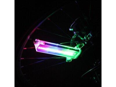 3D led lučka za špice na kolesu, osvetlitev med vožnjo