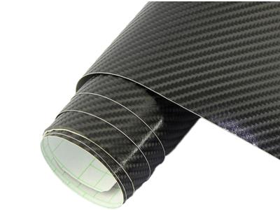 4D Karbonska folija - črna + sijaj, 50x153cm