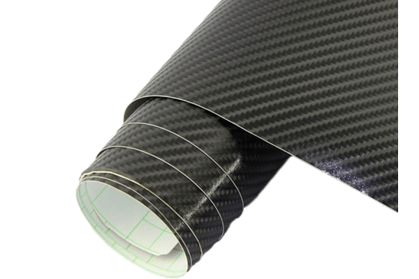 4D Karbonska folija - crna + sjajna, 50x153cm