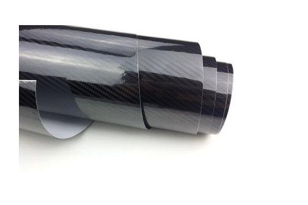 5D Karbonska folija - črna + sijaj, 50x153cm