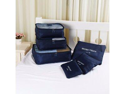 6 delni komplet organizatora za prtljag, plava