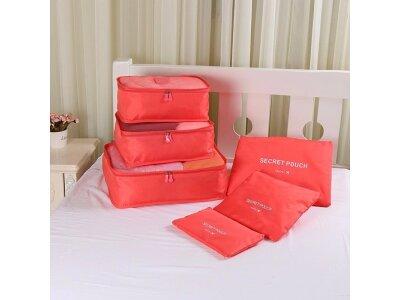 6-delni komplet organizatorjev prtljage, rdeč
