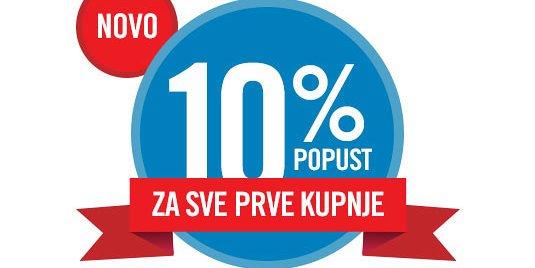 Popust na otvorenje 10%