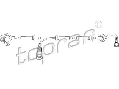 ABS senzor Audi A4 00-04