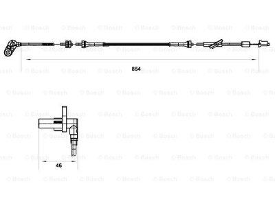 ABS senzor Nissan Almera 00-06, desno