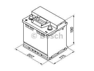 Akkumulator Bosch S3 45 Ah L+