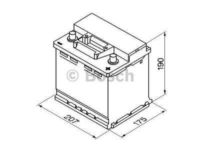 Akkumulator Bosch S3 45 Ah R+