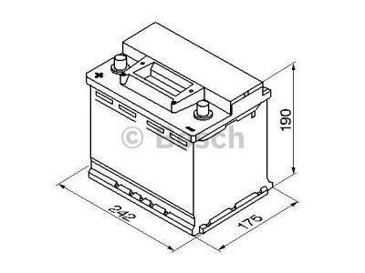 Akkumulator Bosch S3 56 Ah L+