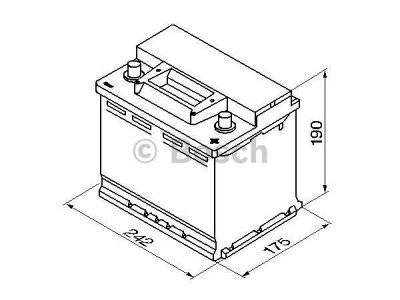 Akkumulator Bosch S3 56 Ah R+