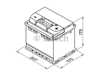 Akkumulator Bosch S4 44 Ah R+