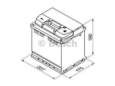 Akkumulator Bosch S4 52 Ah R+