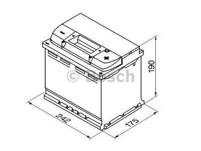 Akkumulator Bosch S4 60 Ah D+ 242x175x190