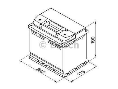 Akkumulator Bosch S4 60 Ah L+