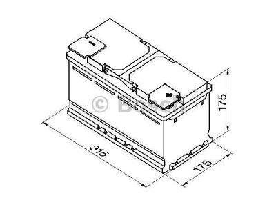 Akkumulator Bosch S4 80 Ah R+
