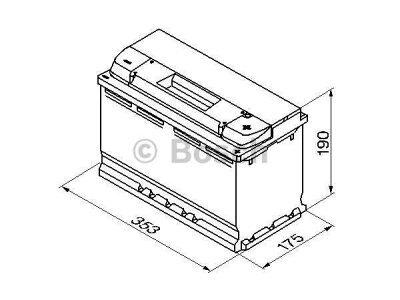 Akkumulator Bosch S5 100 Ah R+