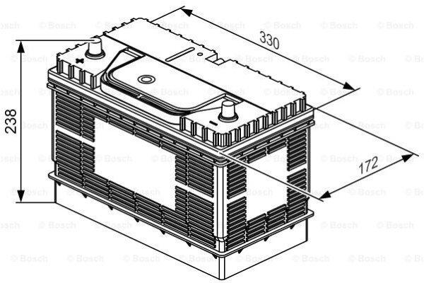 Akumulator Bosch L4 105Ah/800A L+