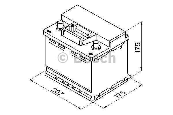 Akumulator Bosch S3 41 Ah D+