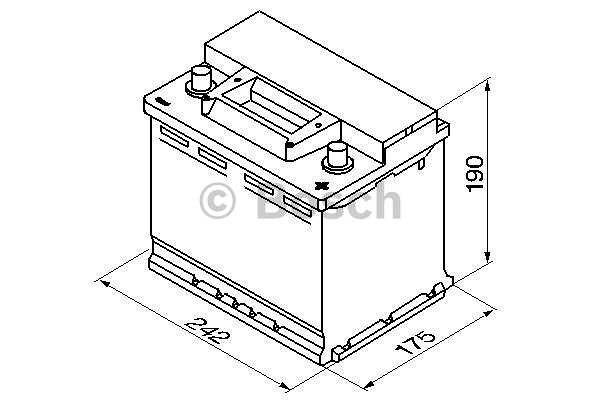 Akumulator Bosch S3 56 Ah D+