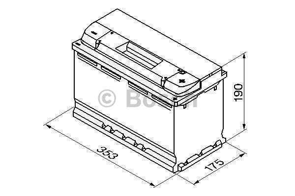 Akumulator Bosch S5 100 Ah D+