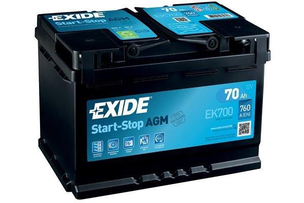 Akumulator Exide AGM 70 Ah D+
