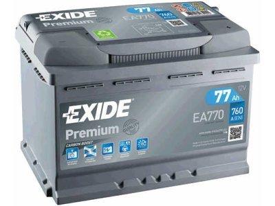 Akumulator Exide EA770 77 Ah D+