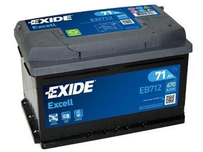 Akumulator Exide EB712 71 Ah D+
