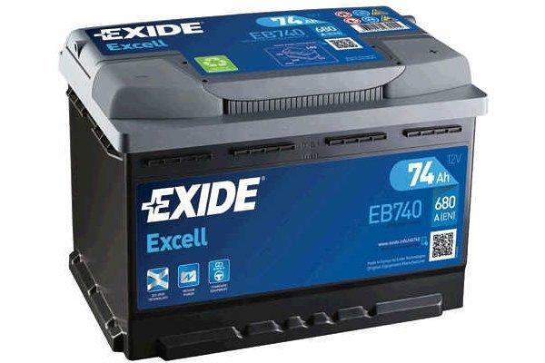 Akumulator Exide EB740 74 Ah D+