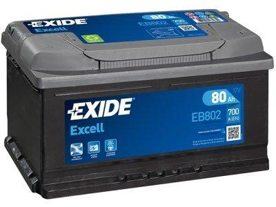 Akumulator Exide EB802 80 Ah D+