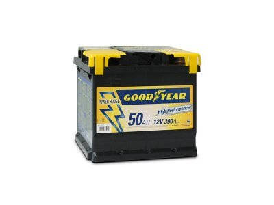 "Akumulator Goodyear 50 AMP KlipTERY ""POWER PLUS """