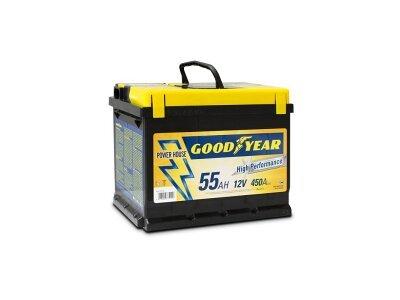 "Akumulator Goodyear 55 AMP KlipTERY ""POWER PLUS """