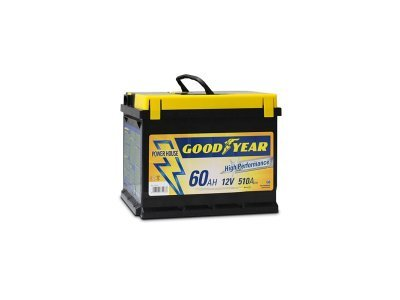 "Akumulator Goodyear 60 AMP BATTERY ""POWER PLUS """