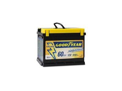 "Akumulator Goodyear 60 AMP KlipTERY ""POWER PLUS """