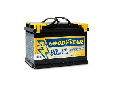 "Akumulator Goodyear 80 AMP KlipTERY ""POWER PLUS """