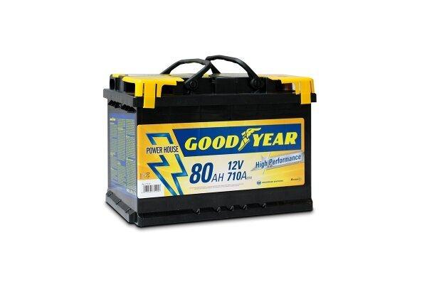 "Akumulator Goodyear 80 AMP KlipTERY ""POWER PLUS """