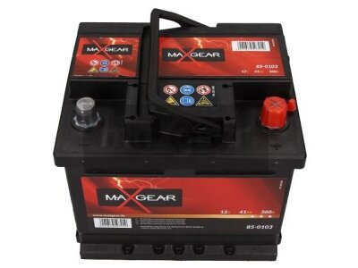 Akumulator MaxGear - 41Ah/360A D+