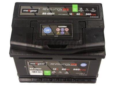 Akumulator MaxGear - 60Ah/560A D+ (start/stop)