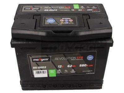 Akumulator MaxGear - 62Ah/580A L- (start/stop)