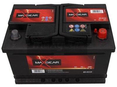 Akumulator MaxGear - 72Ah/680A D+