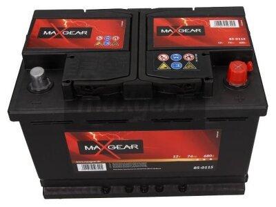Akumulator MaxGear - 74Ah/680A D+